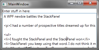A WPF newbie battles the StackPanel - dave^2 = -1
