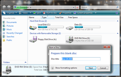 DVD not recognised in Vista